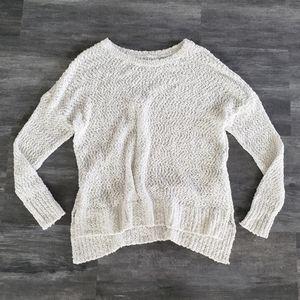 White Hollister Oversized Sweater Long Sleeve